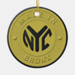 Made In New York Bronx Double-Sided Ceramic Round Christmas Ornament