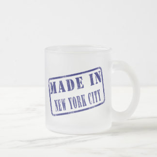 Made in New York City 10 Oz Frosted Glass Coffee Mug