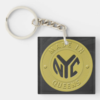 Made In New York Queens Square Acrylic Keychains