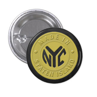 Made In New York Staten Island Pinback Button