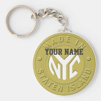 Made In New York Staten Island Keychain