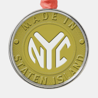 Made In New York Staten Island Metal Ornament