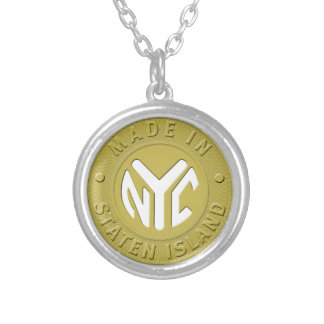 Made In New York Staten Island Round Pendant Necklace