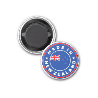 made in new zealand country flag product label magnet
