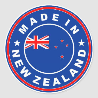 made in new zealand country flag product label stickers