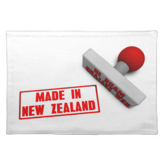 Made in New Zealand Stamp or Chop on Paper Concept Cloth Placemat