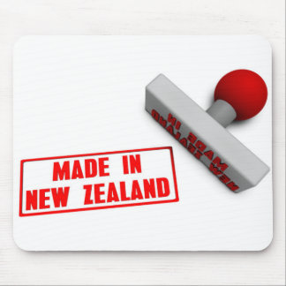 Made in New Zealand Stamp or Chop on Paper Concept Mouse Pad