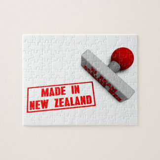 Made in New Zealand Stamp or Chop on Paper Concept Puzzle