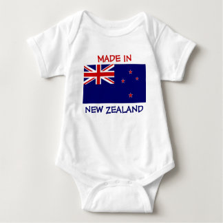 Made in New Zealand with New Zealand Flag Baby Bodysuit