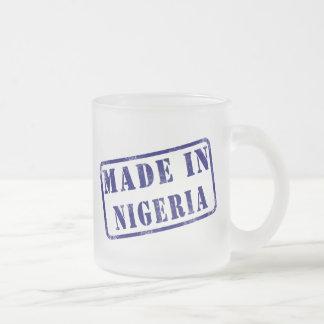 Made in Nigeria 10 Oz Frosted Glass Coffee Mug