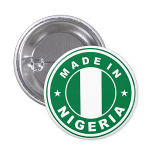 made in nigeria country flag product label round 1 inch round button