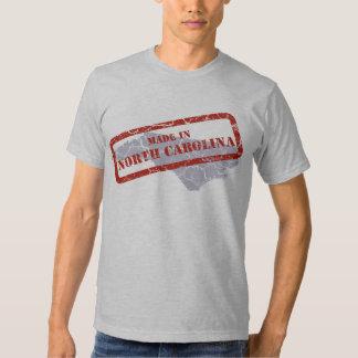 Made in North Carolina Grunge Mens Grey T-shirt