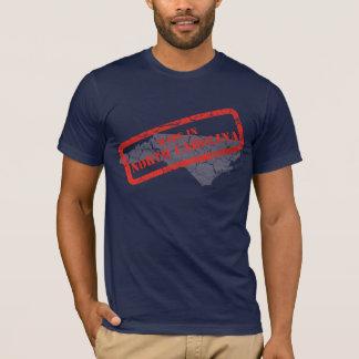 Made in North Carolina Grunge Mens Navy T-shirt