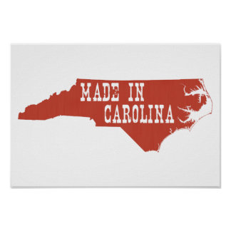 Made In North Carolina Poster