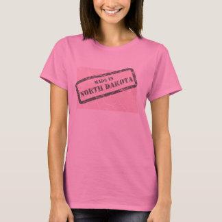 Made in North Dakota Grunge Ladies Pink T-shirt