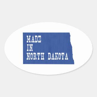 Made In North Dakota Oval Sticker