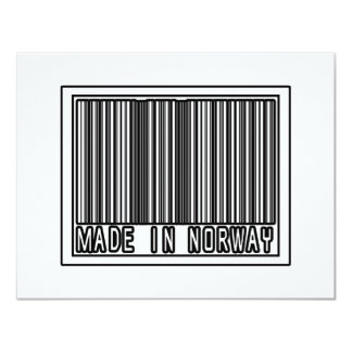 Made In Norway 4.25x5.5 Paper Invitation Card