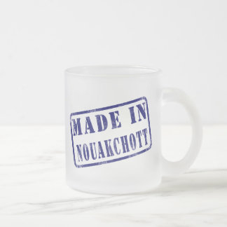 Made in Nouakchott 10 Oz Frosted Glass Coffee Mug