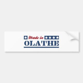 Made in Olathe Car Bumper Sticker