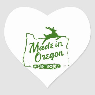 Made in Oregon - Old Town Portland Sign Heart Sticker