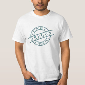 Made In Oregon Stamp Style Logo Symbol Green T-Shirt