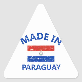 Made in Paraguay Triangle Sticker