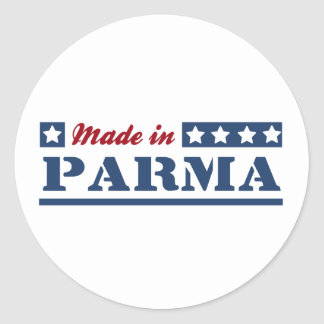 Made in Parma Round Stickers