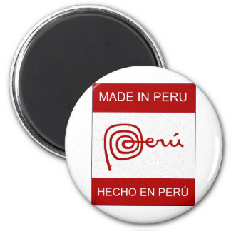 Made In Peru Refrigerator Magnet