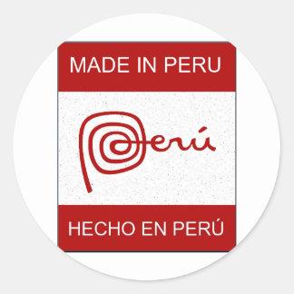 Made In Peru Round Stickers