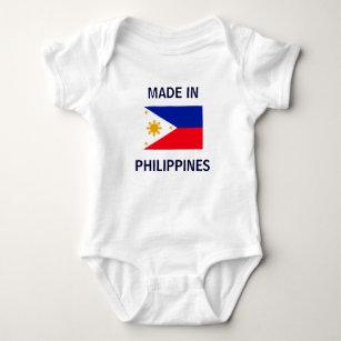 50/% Filipino 50/% American 100/% Beautiful Philippines Flag Heart Baby Onesie