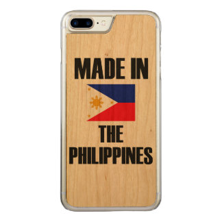 Made In Philippines Flag Carved iPhone 7 Plus Case