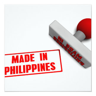 Made in Philippines Stamp or Chop on Paper Concept Card