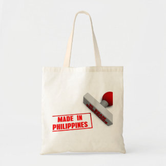 Made in Philippines Stamp or Chop on Paper Concept Tote Bag