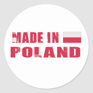 Made in Poland Classic Round Sticker