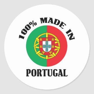 Made In Portugal Classic Round Sticker