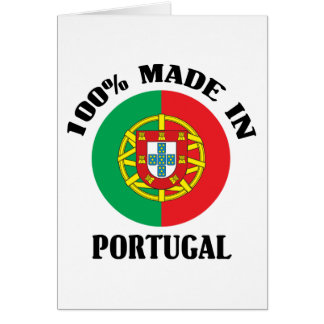 Made In Portugal Greeting Card