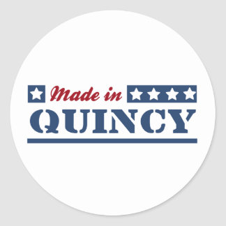 Made in Quincy MA Classic Round Sticker