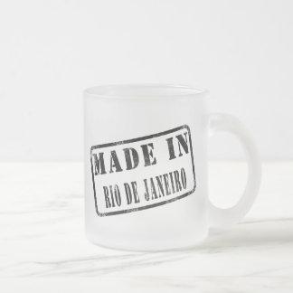 Made in Rio de Janeiro Frosted Glass Coffee Mug