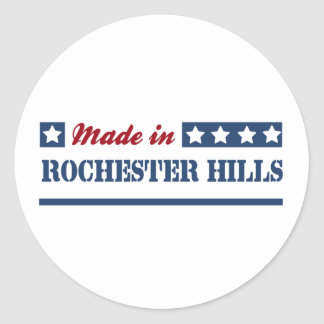 Made in Rochester Hills Classic Round Sticker