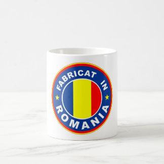 made in romania flag fabricat romanian label coffee mug