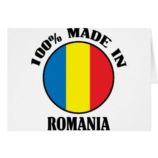Made In Romania Greeting Card
