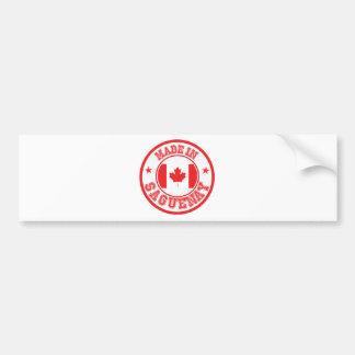Made In Saguenay Bumper Sticker