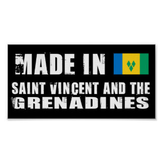 Made in Saint Vincent and The Grenadines Poster
