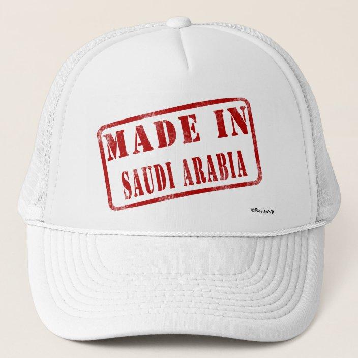 Made in Saudi Arabia Hat