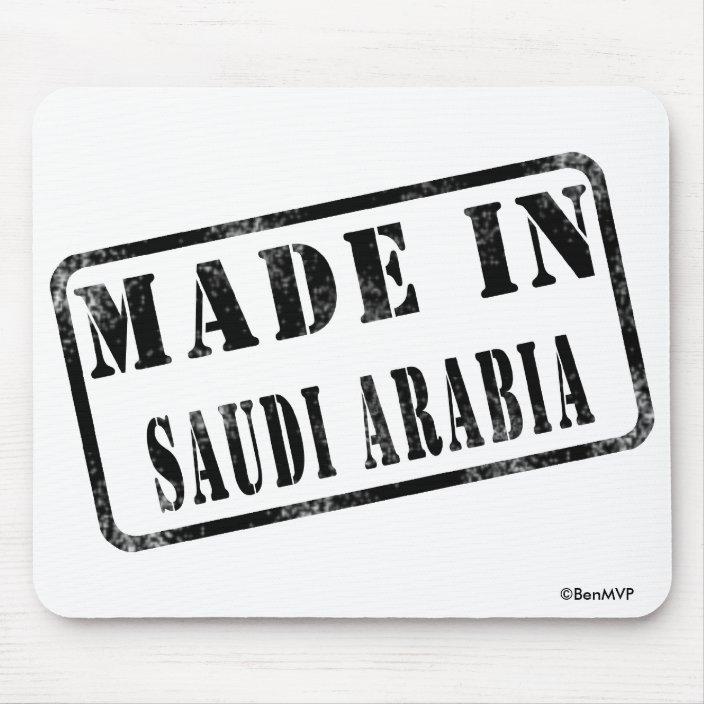 Made in Saudi Arabia Mouse Pad