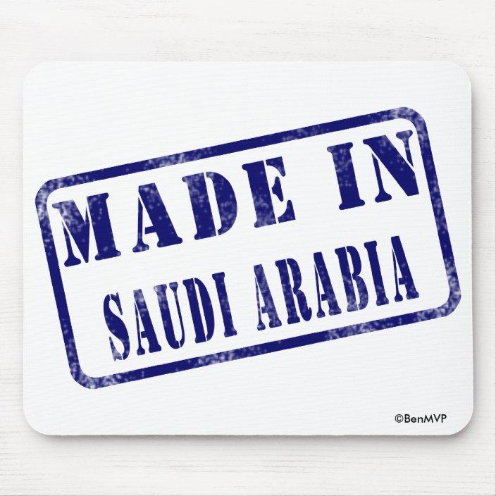 Made in Saudi Arabia Mousepad