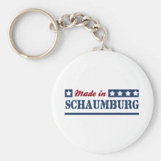 Made in Schaumburg Basic Round Button Keychain