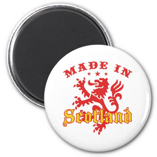 Made In Scotland 2 Inch Round Magnet