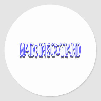 MADE IN SCOTLAND ROUND STICKER
