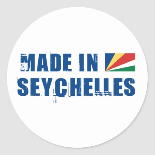 Made in Seychelles Classic Round Sticker